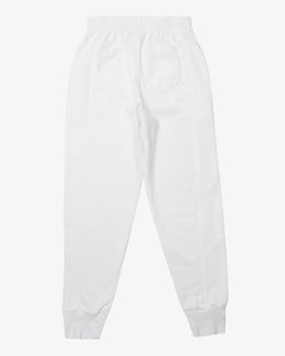CORE EMBLEM SWEAT PANT, WHITE