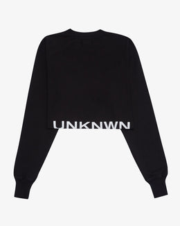 UNKNWN WOMENS CROP CREWNECK