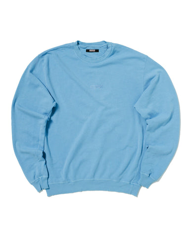 PIGMENT DYED SWEATSHIRT WITH TONAL EMBROIDERY