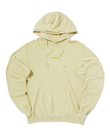 PIGMENT DYED HOODIE WITH TONAL EMBROIDERY