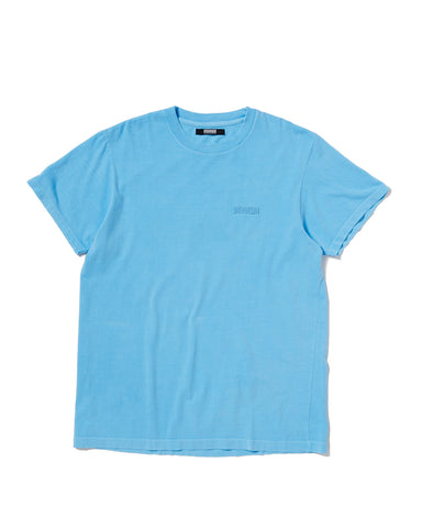 PIGMENT DYED T-SHIRT WITH TONAL EMBROIDERY