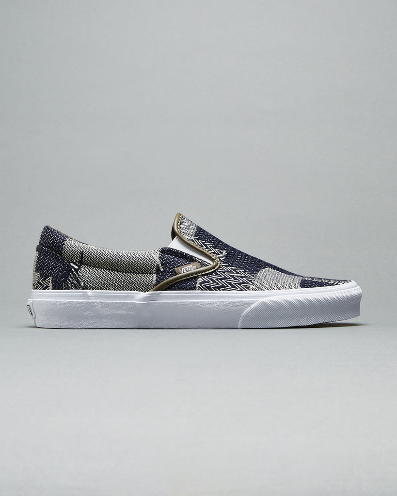9ed86f411d7e88 VANS - DENIM PATCHWORK CLASSIC SLIP ON – UNKNWN