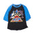 ASIA AMERICAN TOUR BASEBALL T-SHIRT, BLACK/ROYAL