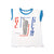 SLEEVELESS PHIL COLLINS ROCK T-SHIRT, WHITE/BLUE