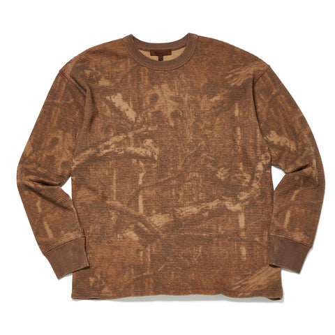 CAMO PRINT LONG SLEEVE THERMAL T-SHIRT