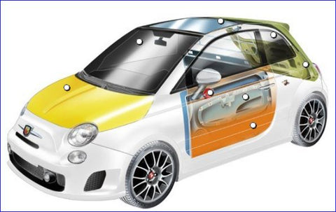 500 Abarth Parts - Panels, Doors & Fittings