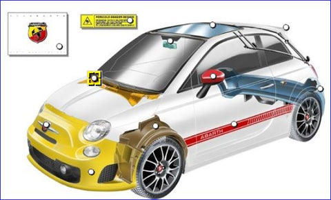 500 Abarth Parts - External Fittings & Publications