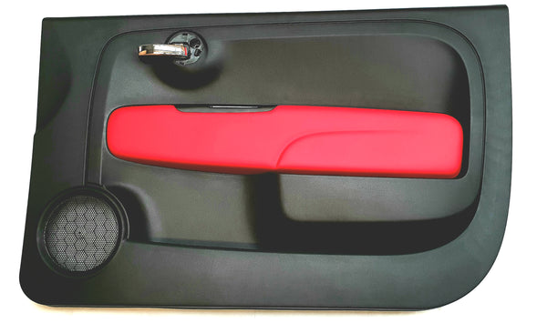 Door Panel - 500 Abarth Black & Red