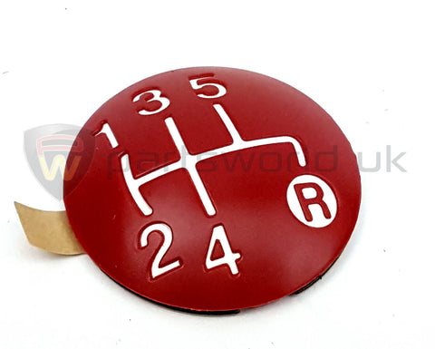 Gear Knob Cap, Red- 500