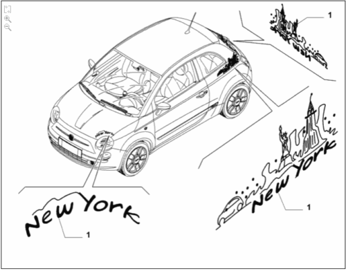 New York Decal Kit - 500