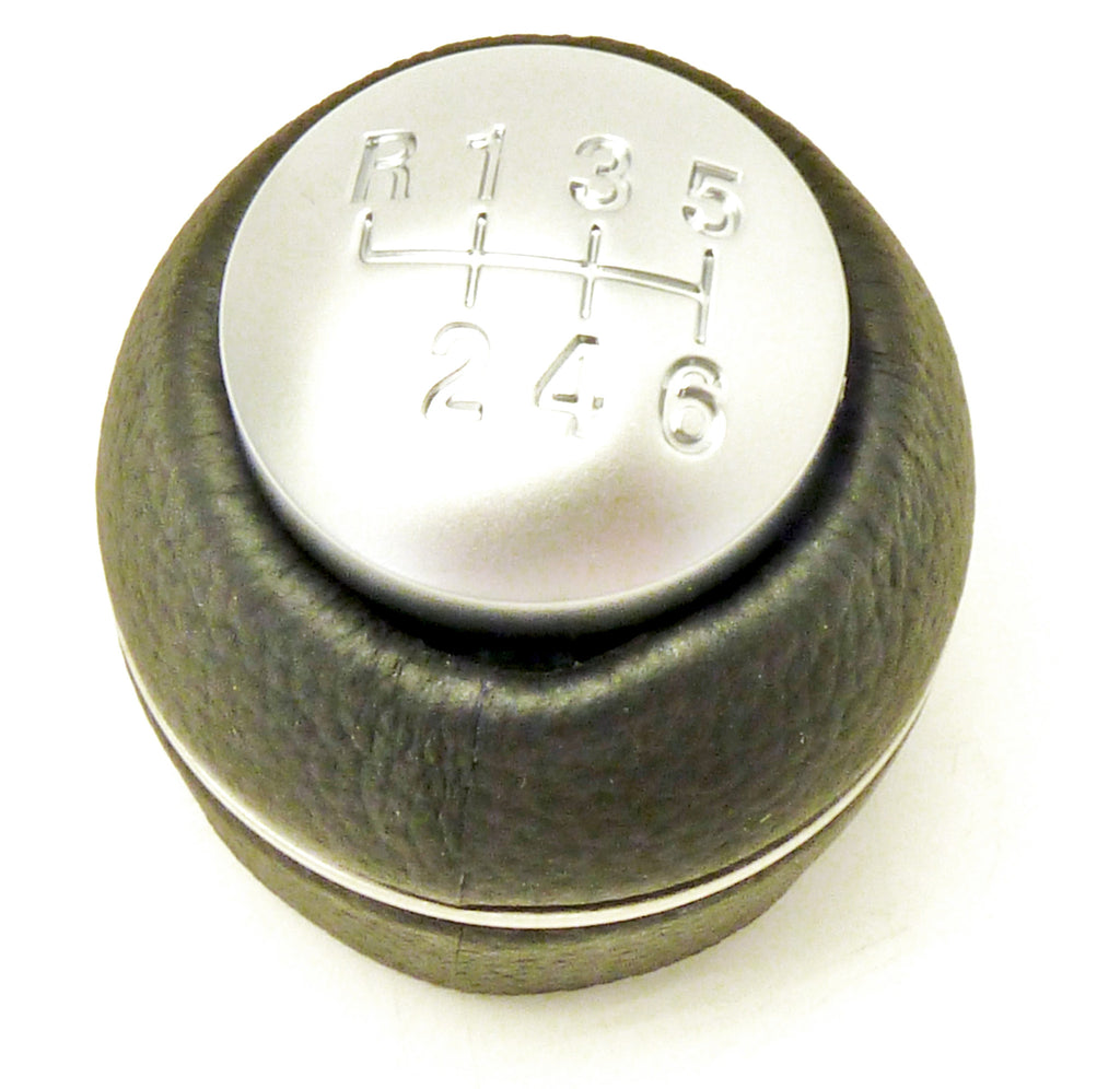 Gear Knob, 5 Or 6 Speed, Black, Leather