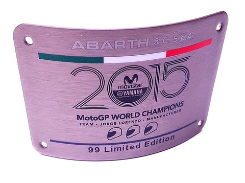 Special Edition Plate - 500 Abarth Yamaha