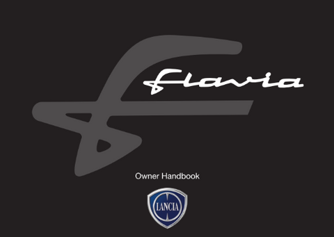 Owners Hand Book - Lancia Flavia in English 60399111