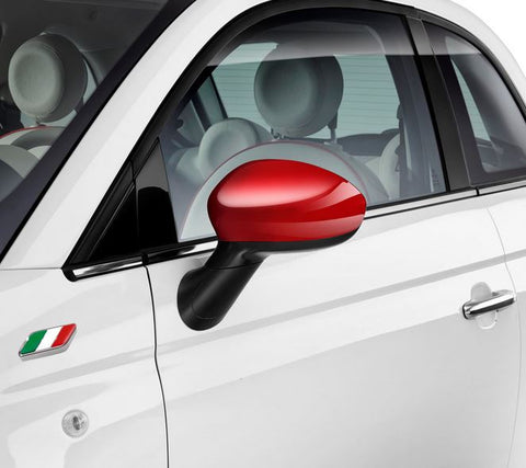 Genuine Fiat Pair of Red Mirror Covers - 500 & 500c 71807485