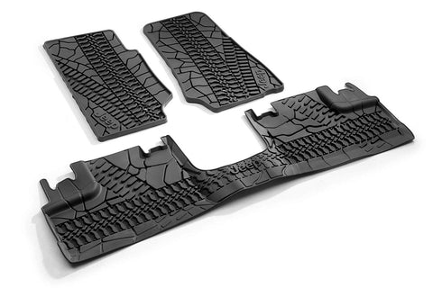 Rubber Mat Set - Wrangler 4 Door