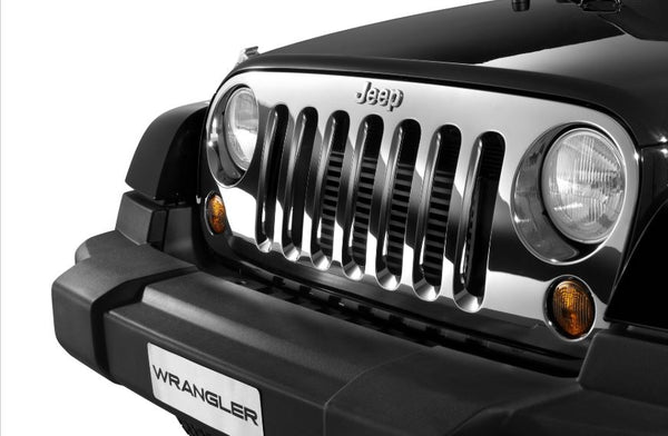 Grille Kit, Chrome - Wrangler