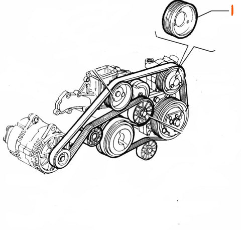 Pulley, Power Steering Pump - 3.2 V6