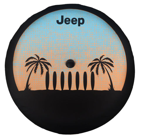 Tyre Cover, Palm Trees - Wrangler