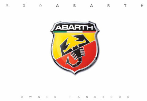 Owners Hand Book - 500 Abarth
