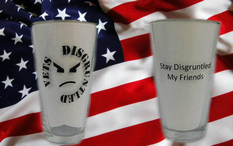Disgruntled Veteran Pint Glass