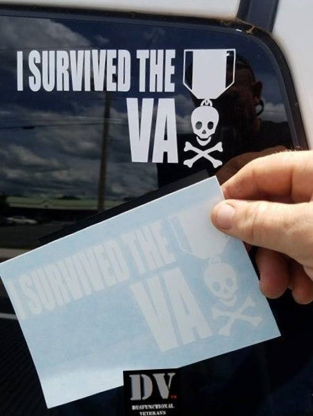 I Survived The Va Window Decal  Dysfunctional Veterans-5201