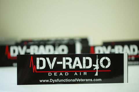 DV RADIO (Dead Air) Bumper Sticker