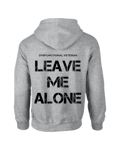*Clearance Item* LEAVE ME ALONE Hoodie (Down the Back) (Grey)