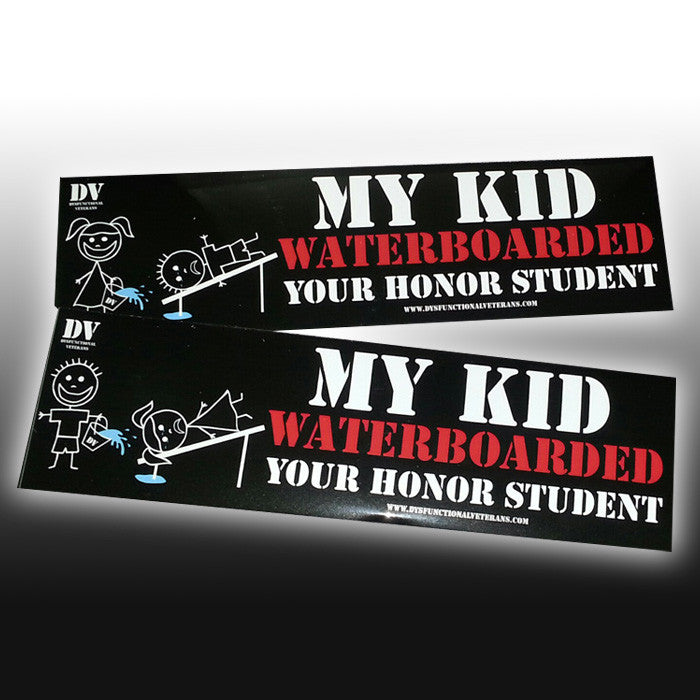 Waterboarding honor student bumper sticker