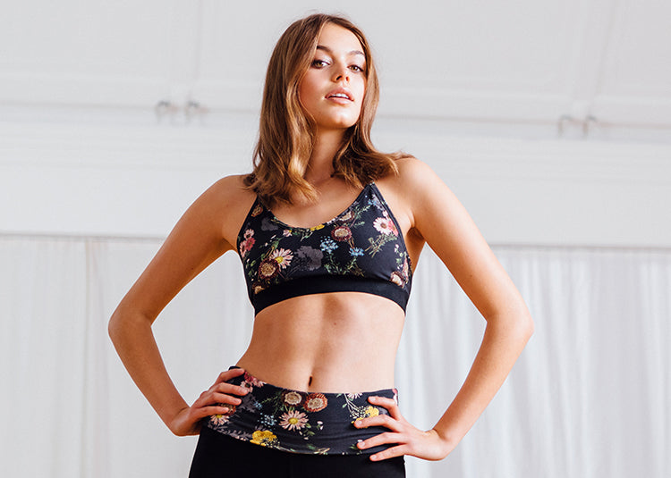 Yoga Outfit with flower print