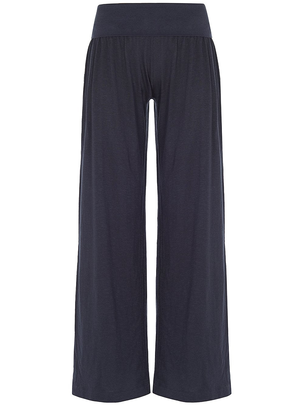 Roll Down Wide Pants Dark Indigo