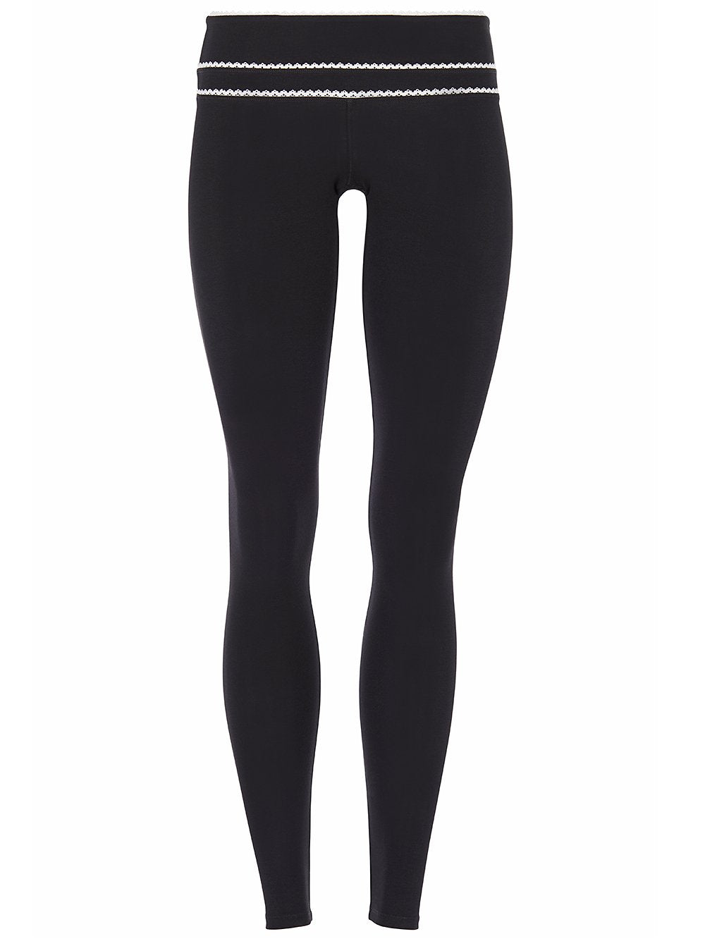 High Rise Legging with Ribbon Black