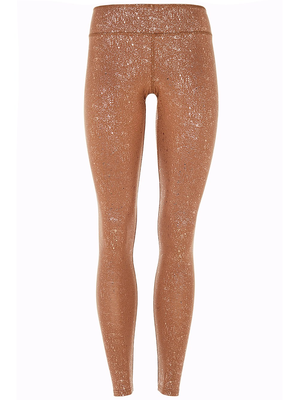 High Rise Sparkling Legging Velvet Brown