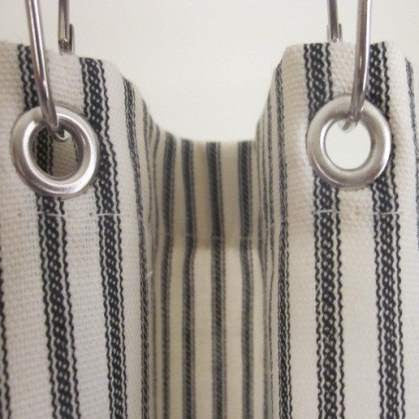 Behind the Scenes: Our Exclusive Ticking Stripe Shower Curtains Design
