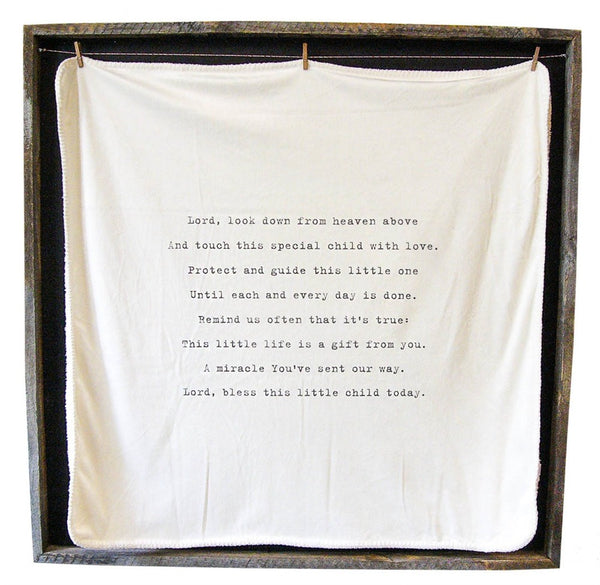Baby Blanket - Lord Look Down IN STOCK for immediate shipment