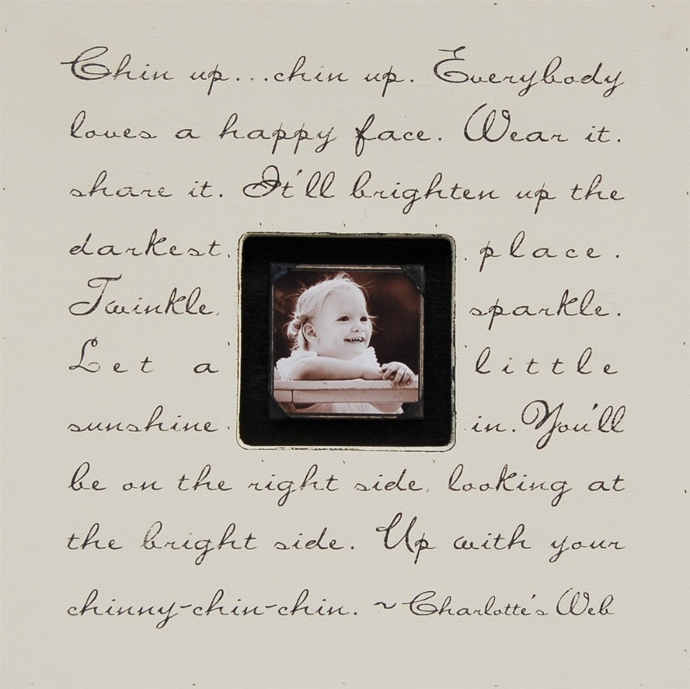 Chin Up Chin Up Photobox Picture Frame Sugarboo Designs