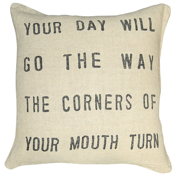 Your Day Will Go Throw PIllow
