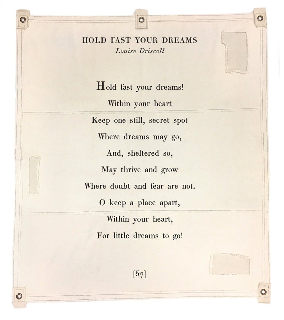 Wall Tarp - Hold Fast Your Dreams