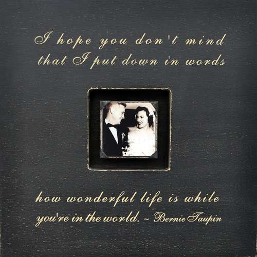 I hope you don't mind song lyrics picture frame by Sugarboo