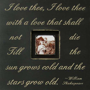 I love thee shakespeare quote picture frame by Sugarboo