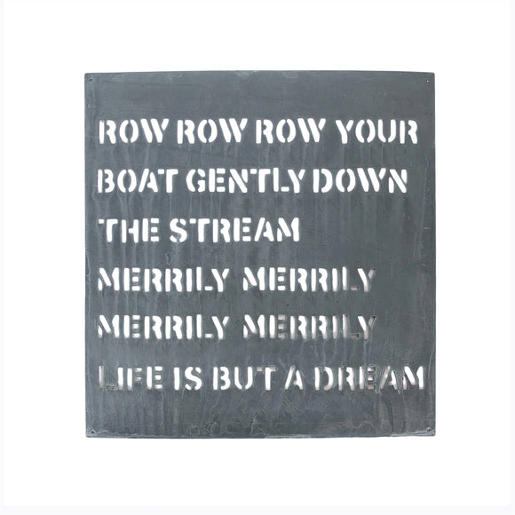 Row Row Row Your Boat Metal Sign
