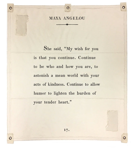 Wall Tarp - My Wish For You (Maya Angelou)