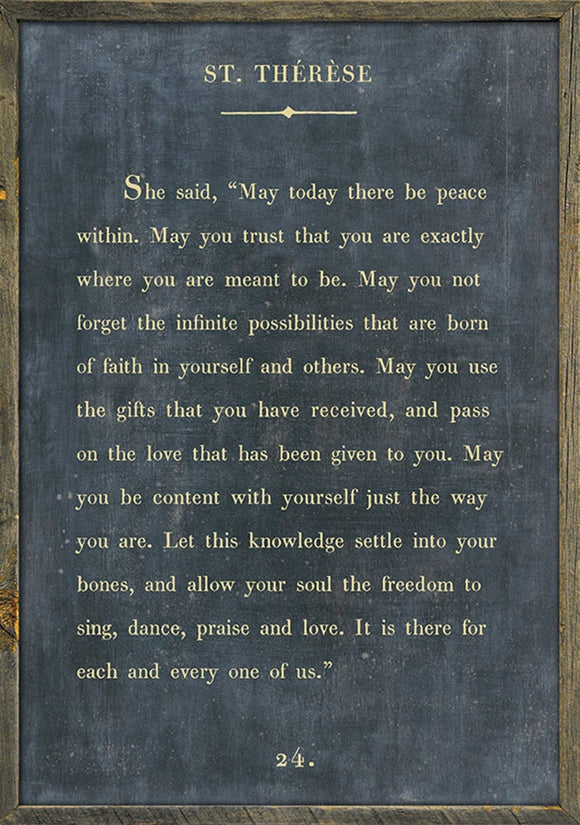 Words Of Wisdom Print By St Therese