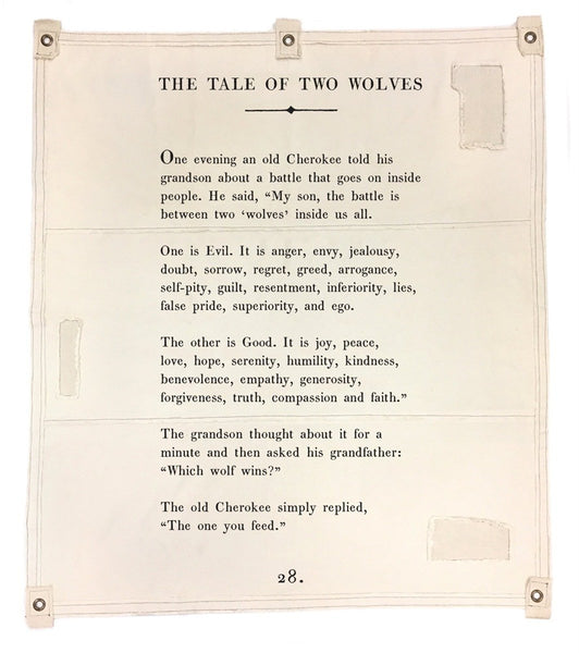 Wall Tarp - Tale Of Two Wolves