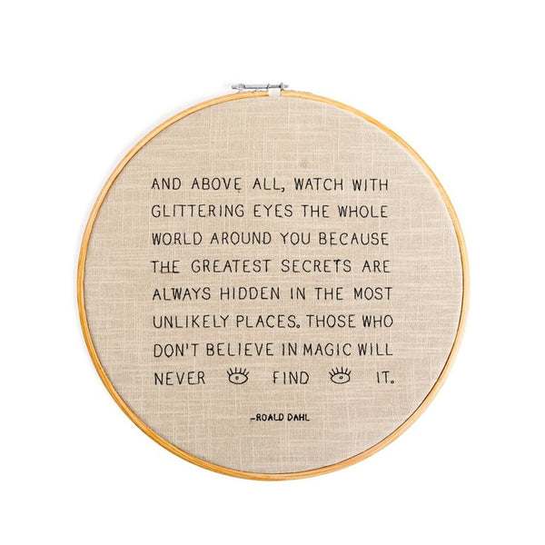 And Above All Cross - Stitch Embroidery Hoop