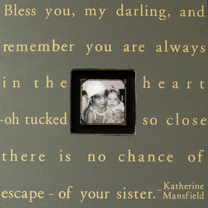 Bless You My Darling Picture Frame Photobox Sugarboo Designs