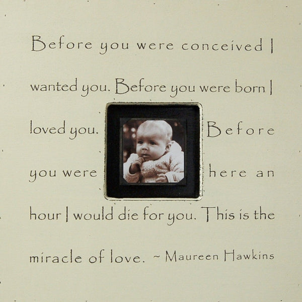 Before You Were Conceived Sugarboo Designs Photobox Picture Frame