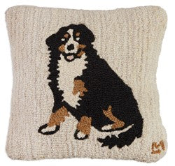 Bernese Mountain Dog Throw Pillow Wool