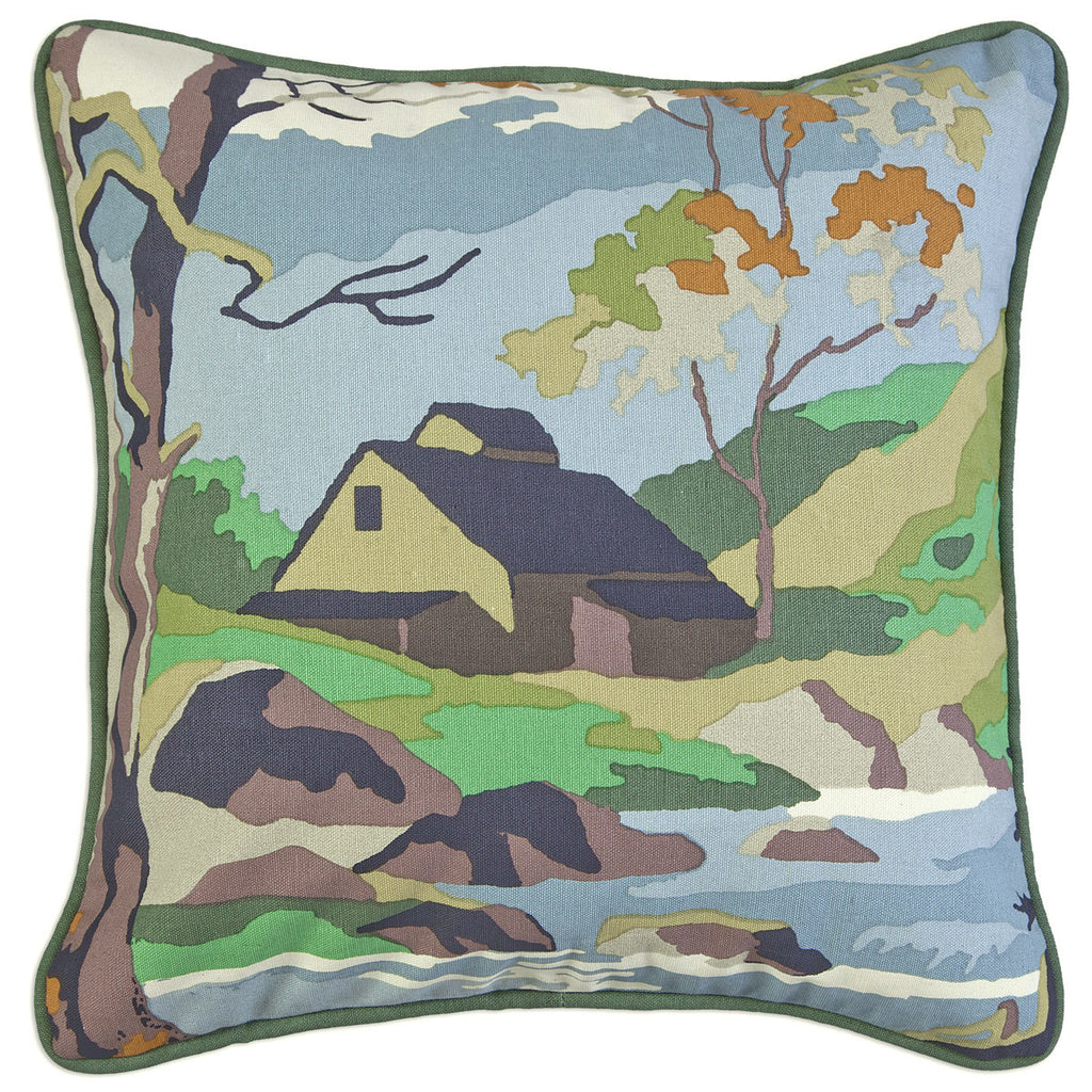 Canvas Throw Pillow - Woodland Stream