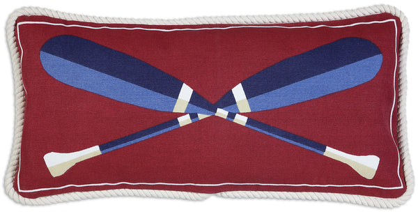 Canvas Throw Pillow - Paddles