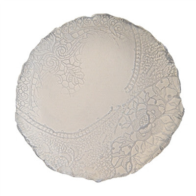 Vintage Lace Plate - Small Cream